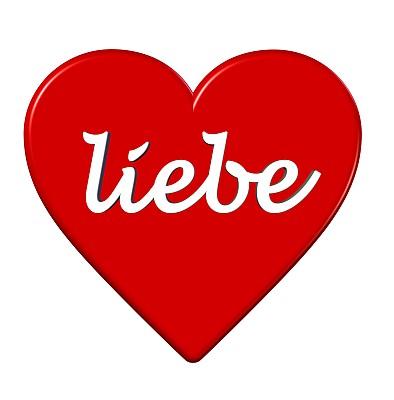 文字,符号,心型,单词,背景分离,热情,浪漫,情人节卡,德国语言,消息