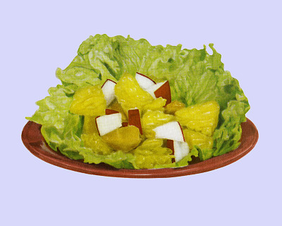 水果沙拉,蔬菜,晚餐,饥饿的,一个物体,彩色背景,莴苣,健康食物,膳食,食品