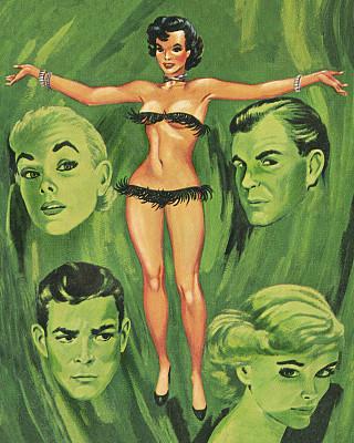 女人,比基尼,超小号,边缘现象,彩色背景,肖像,泳装,头发,面部表情,发型