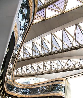 等候室,车站月台,宗,掸邦,空的,交通方式,现代,建筑业,门厅,屋顶