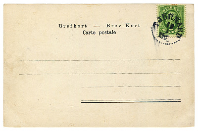 瑞典,古典式,背景,明信片,纯洁,传统,沟通,复古,寄送