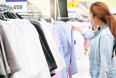 购物中心,服装店,女人,概念,贺卡,华贵,泰国,顾客,儿童,购物车