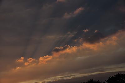视角,云景,多样,光亮,云,黄昏,自然美,屋顶,烟囱,户外活动