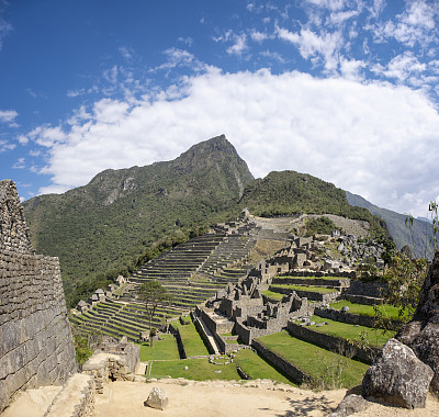 农业,梯田,秘鲁,广角,视角,马丘比丘,世界遗产,印加人文明,户外,高处