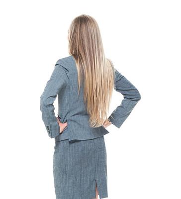 女商人,商务,经理,专业人员,背景分离,无法辨认的人,一个人,背面视角,25岁到29岁,正装