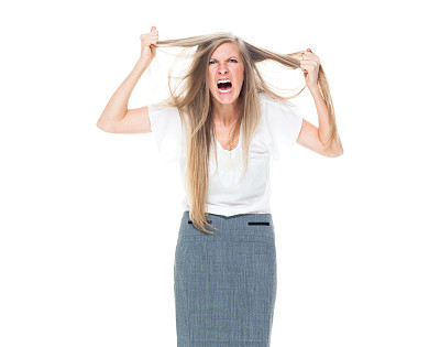 女商人,生气,商务,经理,专业人员,背景分离,一个人,25岁到29岁,女人,仅一个青年女人