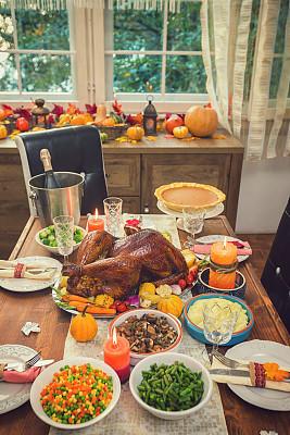 填充火鸡,传统,白昼,配菜,糖衣蛋糕,烤的,土豆泥,食品,烤肉餐,西兰花