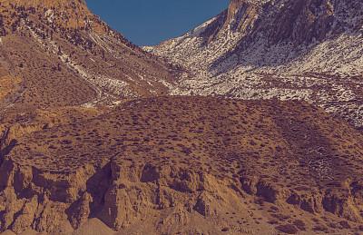 山脉,卡格贝尼,甘达基,姆斯堂自治区,喜马拉雅山脉,山,沙子,金色,武棍,秘密