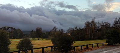 黄昏,新西兰,草坪,云景,景观设计,曙暮光,云,草,自然美,路边