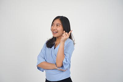 女人,人的脸部,亚洲,青年人,分离着色,可爱的,商务,背景分离,灵感,肖像