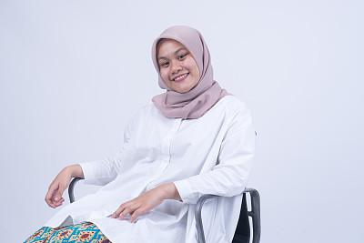 人的脸部,女人,分离着色,椅子,亚洲,美,水平画幅,美人,传统,马来西亚人