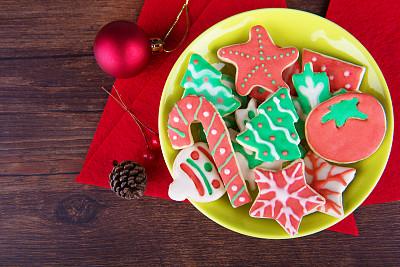 饼干,圣诞装饰物,球,蛋糕,食品,复古风格,糖果,甜点心,甜食