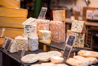 奶酪,斯第尔顿乳酪,多样,超级市场,巨大的,商品,农业,布里白乳酪,华贵,干酪制造