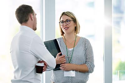 现代,商务关系,专业人员,办公室,看,幸福,会议,商务人士,男商人,女商人