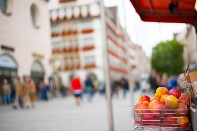 水果,苹果,街道,慕尼黑,蔬菜,城市生活,食品,户外,商品,城市