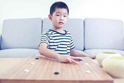 围棋,进行中,男孩,亚洲,室内,游戏,商务,创世纪,一个人,技术