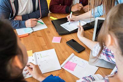 特写,女人,音符,部分,波兰,学员,策略,信函,拿着,商务策略