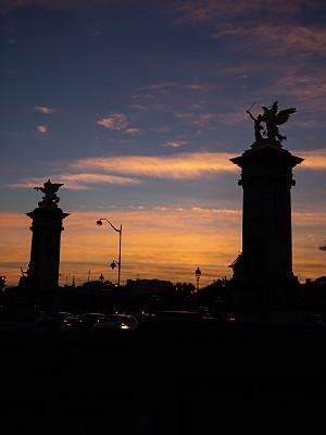 都市风景,巴黎,亚历山大三世桥,国际著名景点,华丽的,莱斯恩范李德斯城区,照明设备,法国,浪漫,著名景点