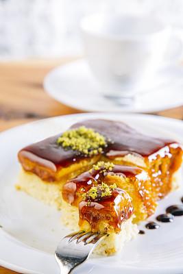 甜点心,盘子,横截面,部分,蛋糕,自制的,甜馅饼,无谷蛋白,水果,户外