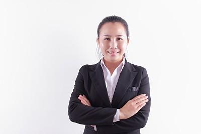 亚洲,女商人,商务,专业人员,中老年女人,背景分离,肖像,一个人,技术,女人