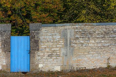 19世纪,围墙,门,秘密,秋天,法国,图像,建筑物门,童话故事,无人