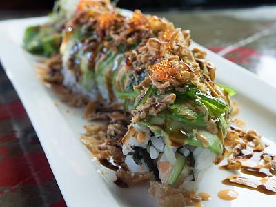 寿司,特写,鱼子,全麦,黑米,寿司卷,华贵,螃蟹,日本食品,食品