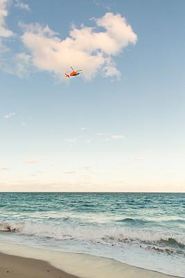 棕榈沙滩镇,直升机,在上面,佛罗里达,气候,热,云景,热带气候,云,梦想