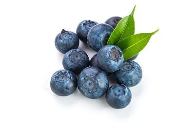 蓝莓,白色背景,叶子,清新,背景分离,浆果,堆,甜食,植物,一把