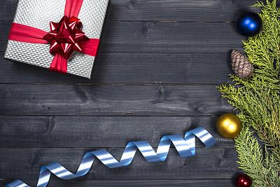 新年前夕,背景,木制,传统,贺卡,圣诞装饰物,圣诞卡,装饰物