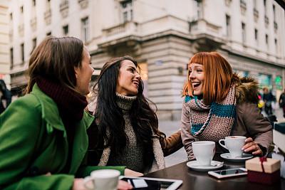 幸福,咖啡,女孩,旅途,咖啡杯,技术,浓咖啡,商业金融和工业,顾客,户外