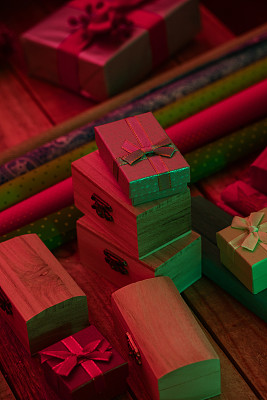 裹住,礼物,圣诞装饰物,包装纸,垂直画幅,金属片,图像,装饰物,无人