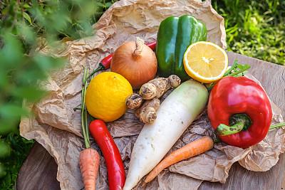 蔬菜,有机食品,清新,辣椒粉,植物,胡萝卜,印度尼西亚,红色,草本,健康食物