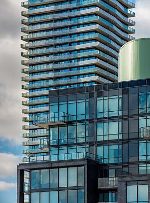 多伦多,市区,明信片,国际著名景点,商务,城市生活,几何形状,云,黄昏,公园