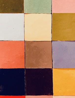 多色的,方形画幅,砖地,大量物体,垂直画幅,室内,图像,瓷砖,无人,2018