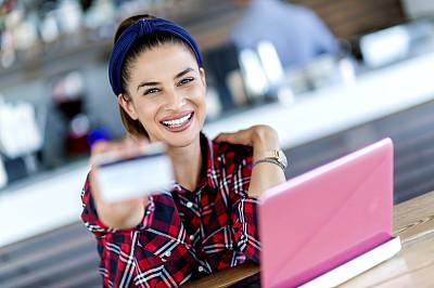 电子邮件,舒服,技术,现代,商业金融和工业,拿着,智能卡,多重任务,信用卡,看