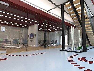 办公室,会议室,华贵,椅子,现代,商业金融和工业,门厅,植物,三维图形,建筑