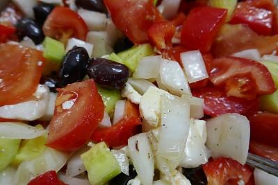 沙拉,健康生活方式,地中海国家,菲塔乳酪,蔬菜,清新,食品,橄榄油,椒类食物,加拿大