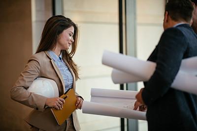 建筑师,青年人,专业人员,策略,技术,商业金融和工业,拿着,中年男人,商务策略,建筑