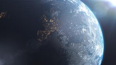 欧洲,地球,气候,城市生活,球体,热,暗色,空间探索,环境,环境保护