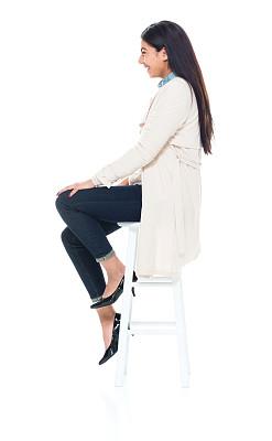 女性,青年人,商务,吧椅,背景分离,一个人,女性特质,女人,青年女人