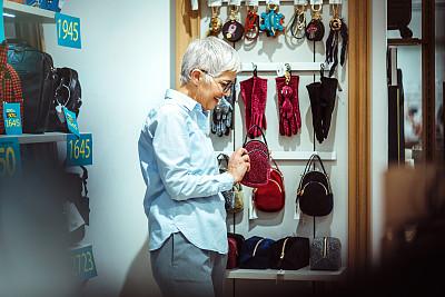 商店,购物中心,零钱包,老年女人,钱包,小的,手套,华贵,津贴,钥匙圈