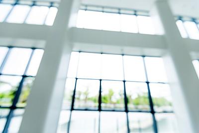 围墙,现代,玻璃,办公大楼,商务,几何形状,建筑业,钢铁,透过窗户往外看,商业金融和工业