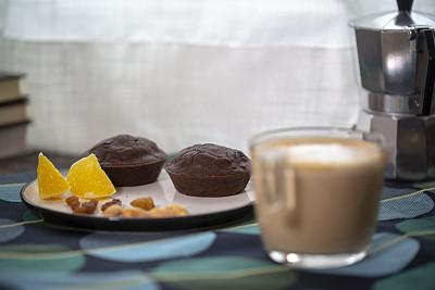 橙子,咖啡,巧克力蛋糕,饮料,小圆面包,窗帘,清新,咖啡杯,蛋糕,舒服