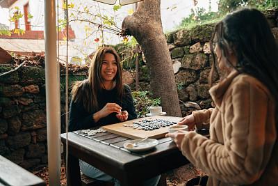 咖啡,饮料,秒表,热,部分,休闲游戏,围棋,花盆,策略,肖像