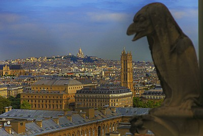 Sacre Coeur and montmartre from above – Paris, France