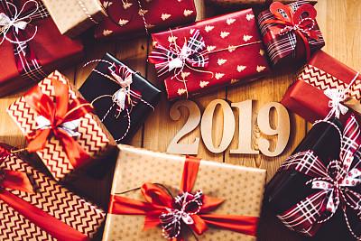 2019,新年前夕,圣诞礼物,镶花地板,华贵,木制,圣诞树,建筑结构,工艺品,白色