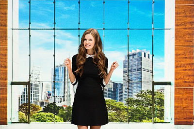 情绪压力,女商人,大厅,办公大楼,专业人员,25岁到29岁,现代,商业金融和工业,澳大利亚,仅女人