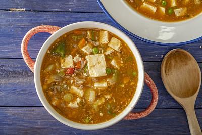 麻婆豆腐,韩国食物,蔬菜,清新,香料,食品,中国食品,椒类食物,煮食,餐具