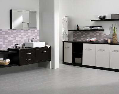 舞台布景,浴室,华贵,地板,瓷砖,现代,透过窗户往外看,住宅内部,建筑
