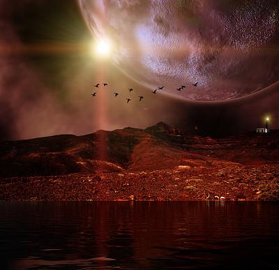 行星,月亮,山,未来,极端地形,轨道运行,卡诺岛,空间探索,不明飞行物,星系